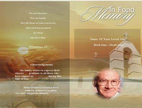 Funeral Template by Funeral Program Using Funeral Template Unlimited Content