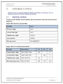 user interface design document template interface document ms word template