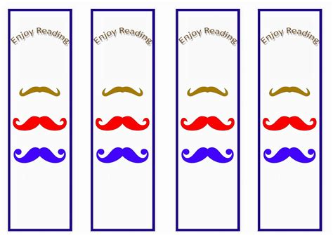 printable mustache bookmarks mustache bookmarks birthday printable