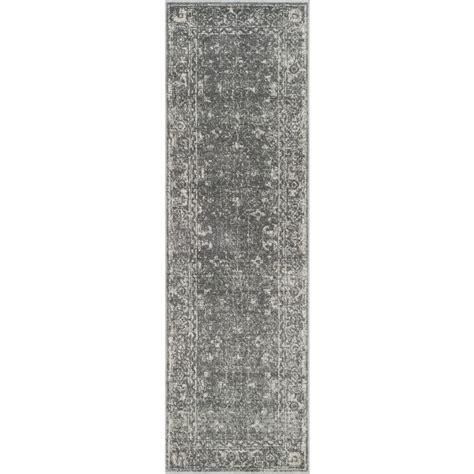 Pantofel Grey Ivory 2 safavieh evoke gray ivory 2 ft 2 in x 7 ft runner evk270s 27 the home depot