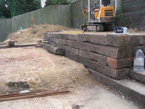 Small Railway Sleepers by All Gardens Great Small Railway Sleepers Hoblands Project