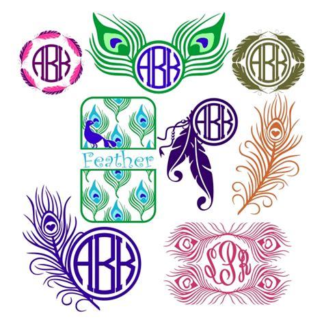 design free monogram online feather dreamcatcher svg monogram designs