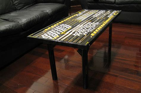 table and stick coffee table composite hockey stick builds