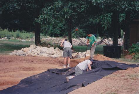 Landscape Underlayment Installing Pond Liner And Underlayment Traditional