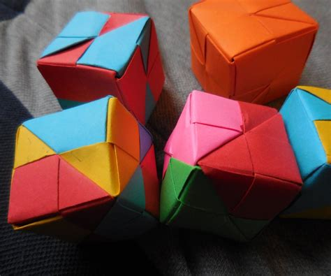 Easy Origami Cube One Paper - multi purpose modular origami cube for complete beginners