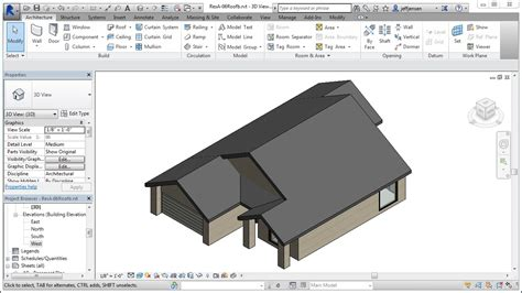 tutorial revit roof jensen s revit tutorial residential house 06 roof