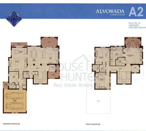 2 floor villa plan design arabian ranches communities
