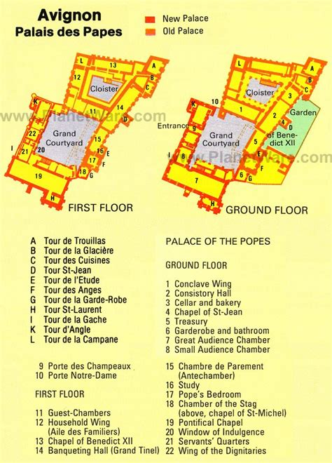 apostolic palace floor plan avignon on map