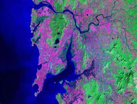 mumbai map satellite world cities satellite images landsat by geology