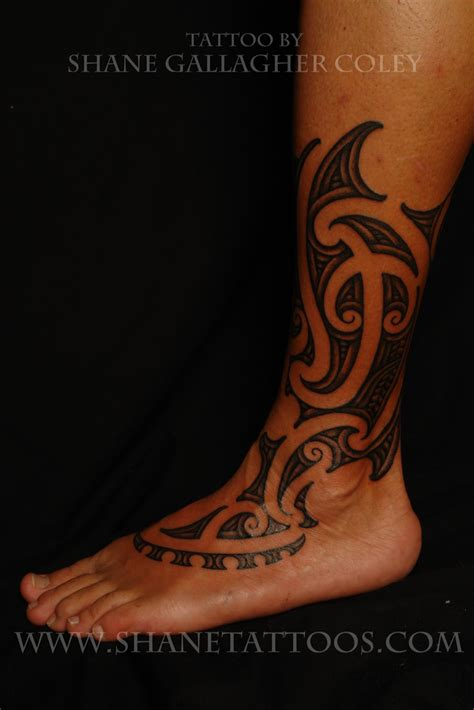 polynesian foot tattoo designs maori polynesian maori calf