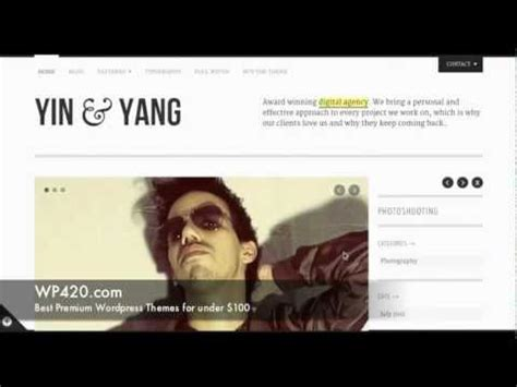 themeforest yin yang yin yang portfolio wordpress theme demo youtube