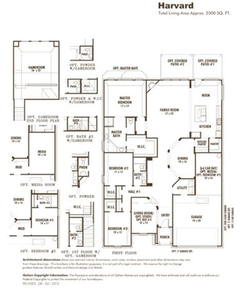 gehan homes floor plans gehan homes homes rowton s floor plans for the home