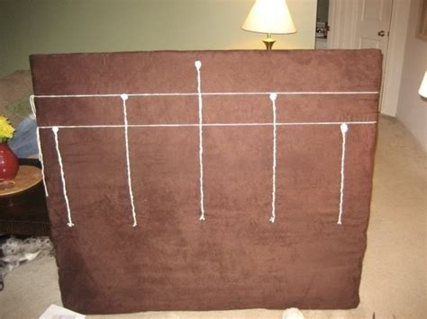 tied to headboard embroidered headboard 183 how to make a bed headboard