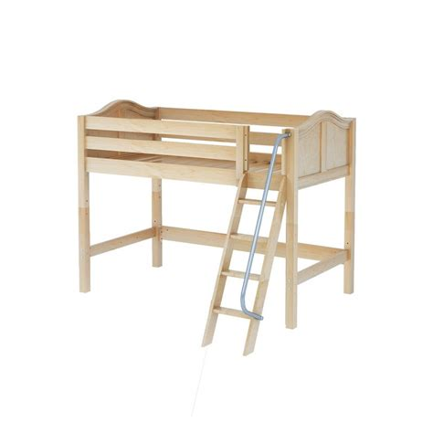 mid loft bed maxtrixkids chap nc mid loft bed with angled ladder