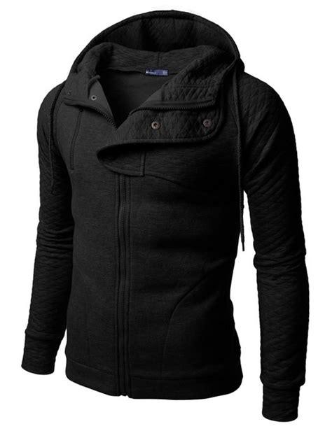 Jaket Hoodie Zipper Jaket Sweater Zipper Black List White Termurah 1 doublju plain black hoodie zip up jacket with quilting mens clothing