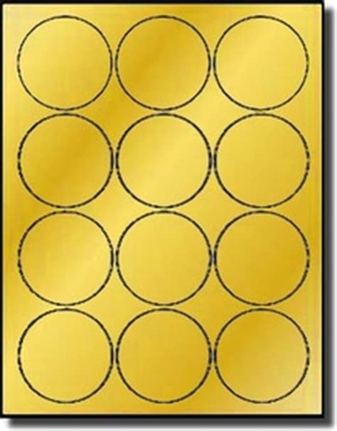 Gold Foil 2 1 2 Inch Round Labels For Laser Only Avery 174 5294 1 Inch Sticker Template