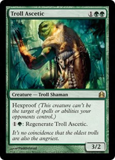 Number Of Cards In A Magic Deck by Troll Ascetic Magic The Gathering Commander Gatherer