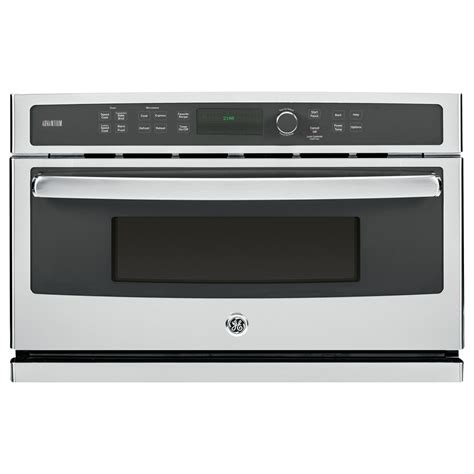 ge built in microwave shop ge profile advantium 1 7 cu ft built in convection microwave with sensor cooking controls