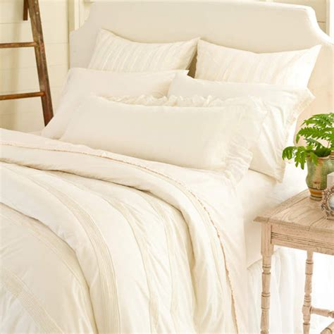 Ivory Duvet Cover Mod Pintuck Ivory Duvet Cover By Pine Cone Hill