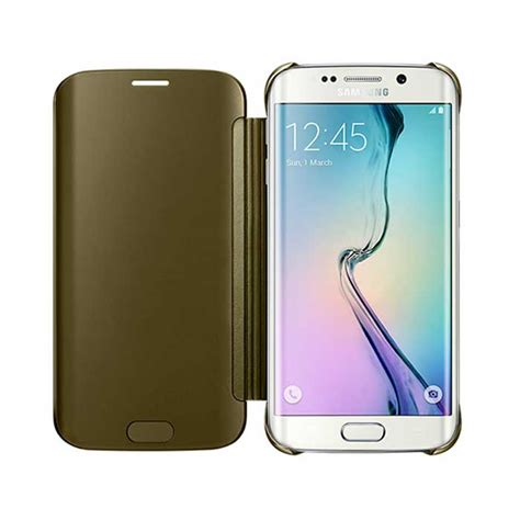 Samsung Original Clear Cover For S6 Edge Gold buy samsung galaxy s6 edge clear view cover gold itshop