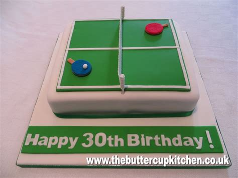 table tennis themed birthday cake by www