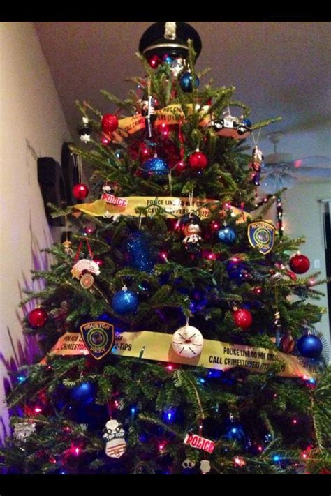 police christmas tree police christmas police