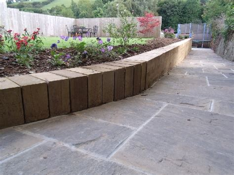 Sleeper Wall Design by Retaining Walls Great Scapes Landscape Design