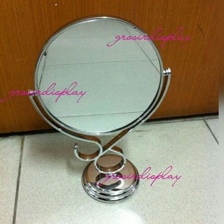 Cermin Berdiri cermin meja berdiri kaca bingkai plastik grosir display