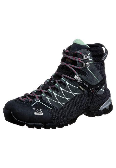 salewa climbing shoes salewa alp trainer mid gtx climbing shoes slate mint
