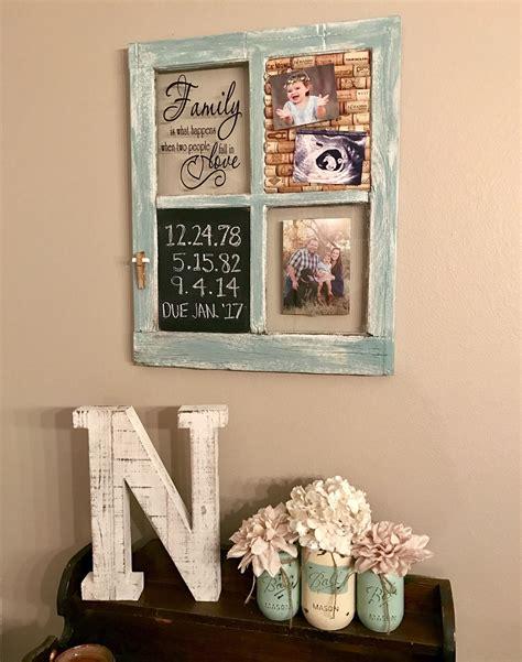 montana home decor repurposed old window with chalkboard and wine cork board