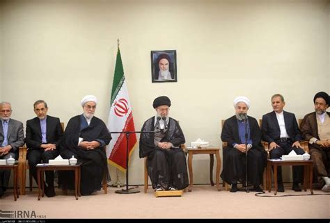 leader receives president rouhani cabinet members