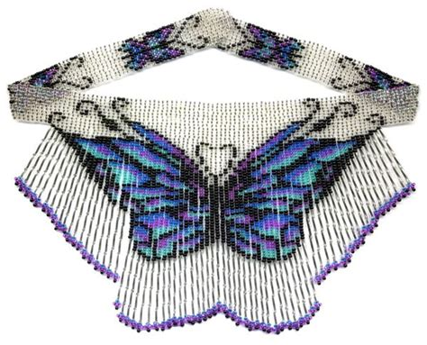 butterfly bugle weave fringe necklace beading patterns