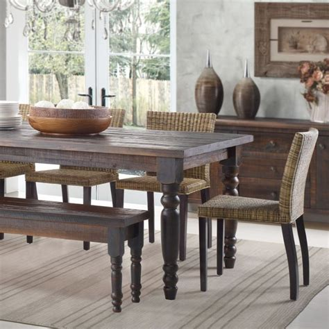 black distressed table and chairs best 25 distressed dining tables ideas on