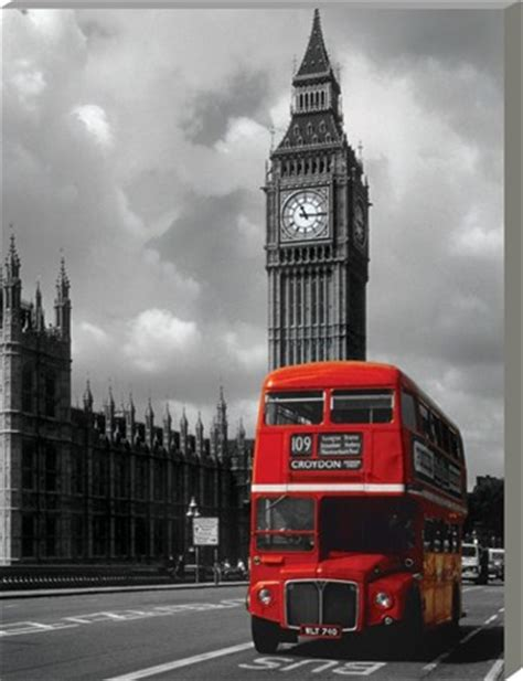 Print Wall Murals red double decker iconic london large canvas buy online