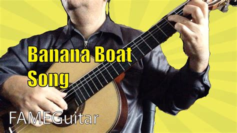 classic boat song the banana boat song acoustic guitar classic fingerstyle