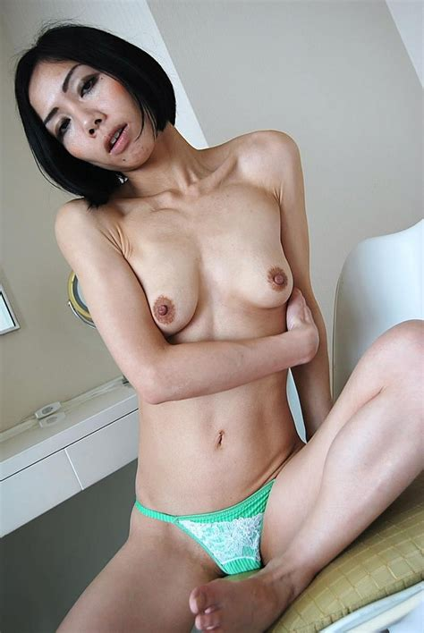 Dark Haired Skinny Japanese Milf Sexy Women In Lingerie Picture