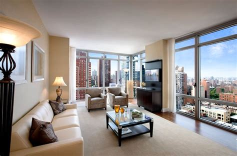 Luxury Residential Living Room Interior Design Azure Interior Design Nyc Apartment