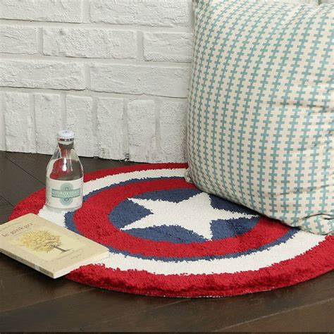Captain america round floor mats door carpets bath mat bathroom rug avengers in home furniture