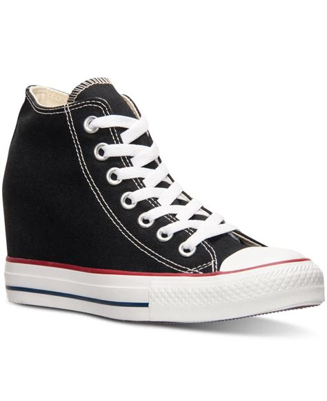 Jaket Convers Line converse s chuck casual sneakers from finish line in black lyst