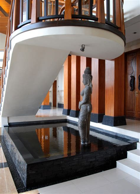 ngdc spiritural sculpture rising out of indoor water