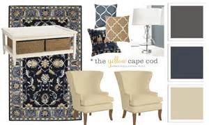 Ballard Designs Living Room the yellow cape cod blue beige and charcoal family room