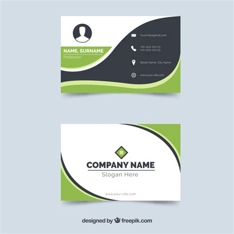 card template freepik original busines card with flat design vector free