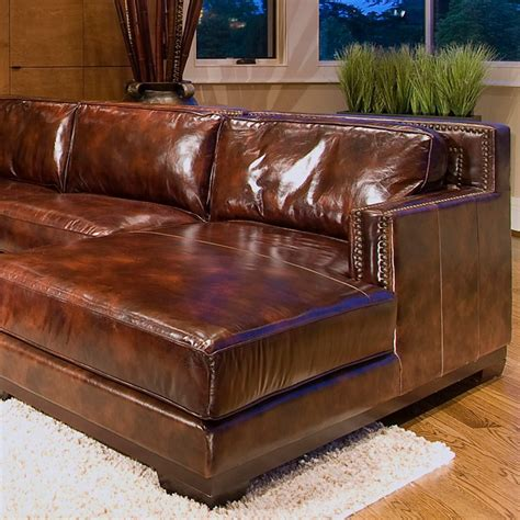 saddle brown leather sofa davis saddle brown leather sectional with right facing chaise dcg stores