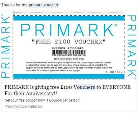 discount vouchers uk hotels primark shoppers warned over fake 163 100 discount voucher
