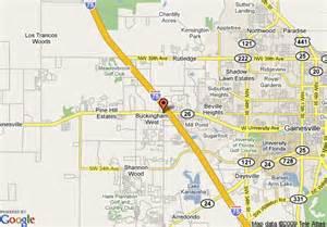 gainsville florida map map of days inn gainesville i 75 gainesville