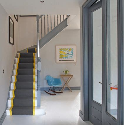 contemporary staircase  optimise design contrasting trim