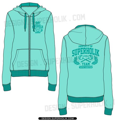 zip hoodie design template women s zip up hoodie template hellovector