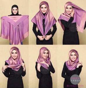 30 contoh cara memakai jilbab segi empat terbaru 2017 30 contoh cara memakai jilbab segi empat terbaru 2017