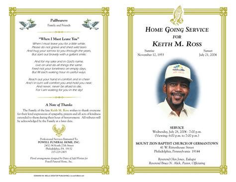 blank funeral program template best photos of free funeral