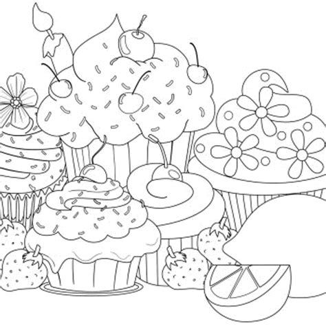 hard cartoon coloring pages cute cupcake coloring pages coloring home